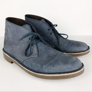 Clark's Chukka Blue Suede Boots size 13